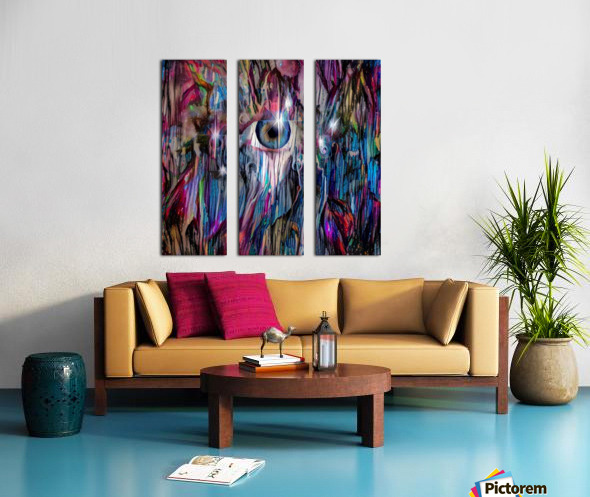 Eye in Colorful Space Split Canvas print