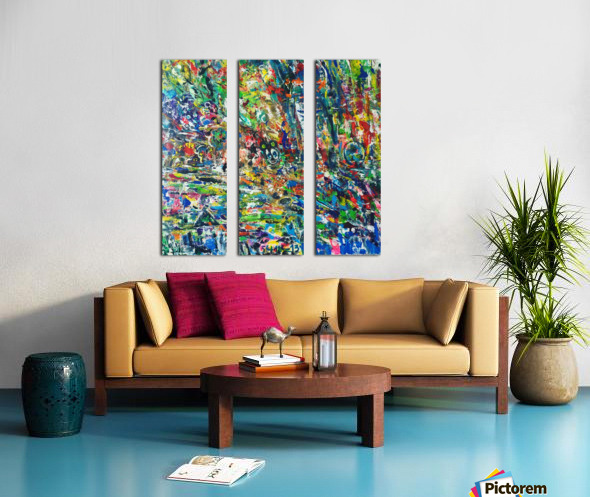 between dimensions  Split Canvas print