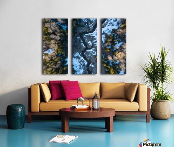 Ontario River Split Canvas print