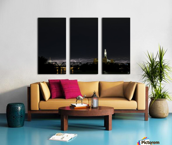 Winnipeg Skyline Storm Split Canvas print