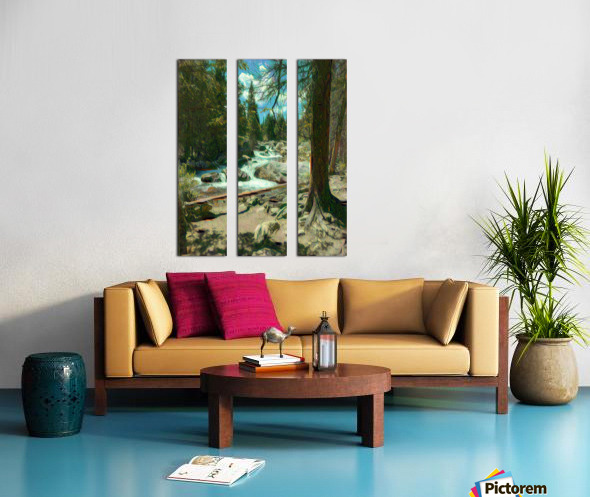 Rocky Mountain waterfall Split Canvas print