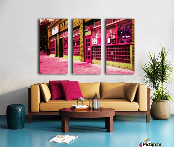 Atlanta Street Scene -- Red Split Canvas print