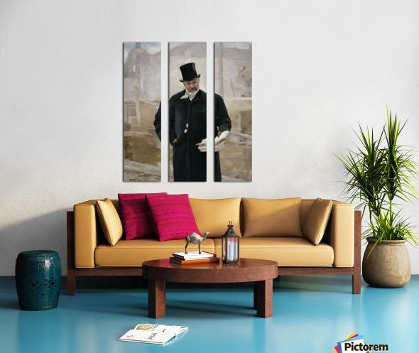 Portrait d Adolphe Alphand Split Canvas print