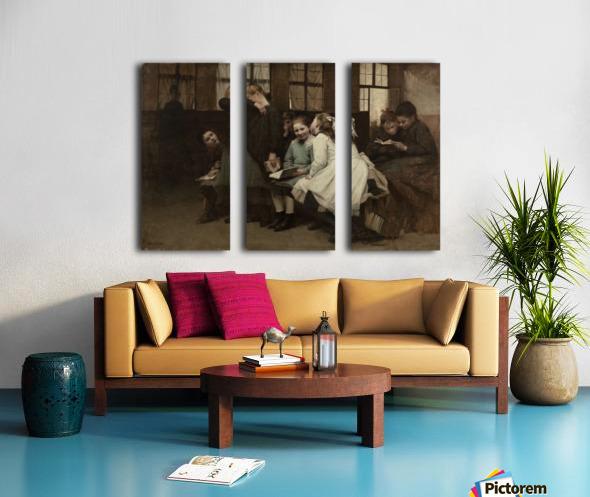 En retenue Split Canvas print