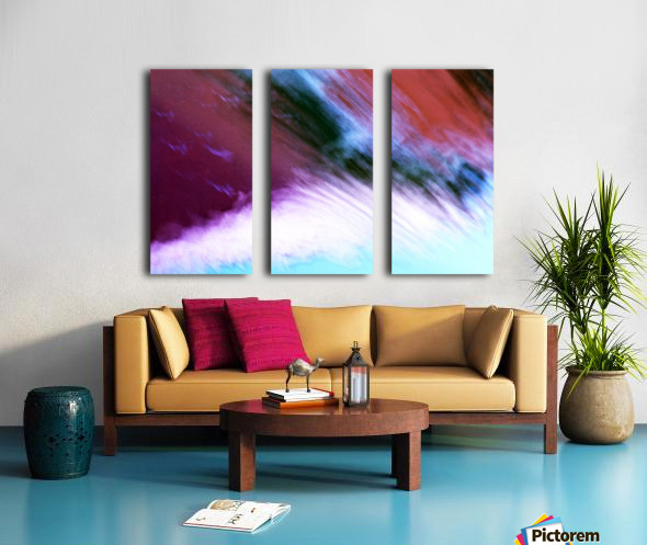 Water fall abstraction Split Canvas print