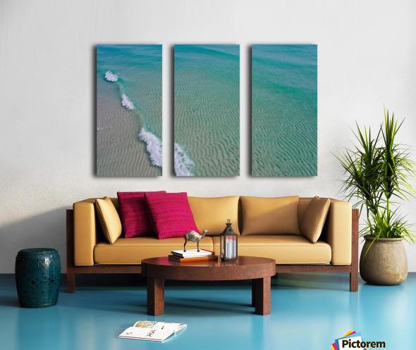 Clear Beach  Split Canvas print