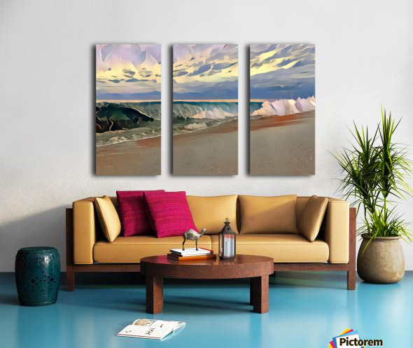 Off the lip Split Canvas print