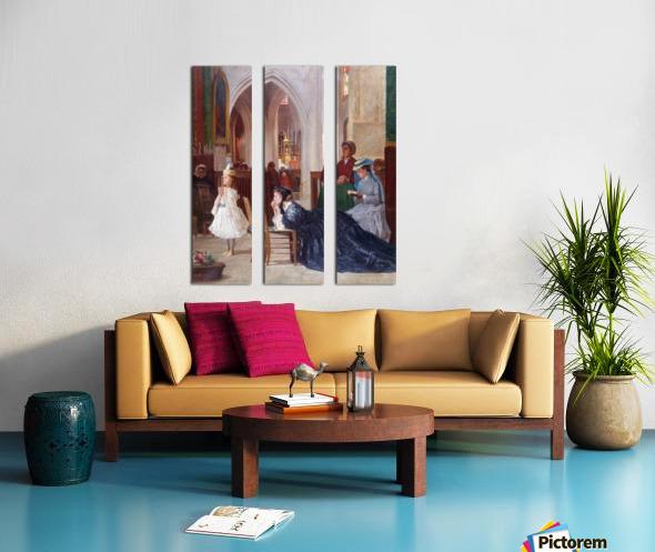 La priere Split Canvas print