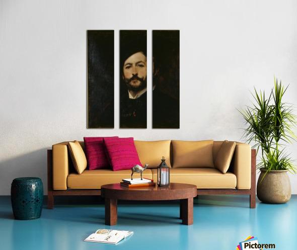 Portrait du baron Antoine d Ezpeleta Split Canvas print