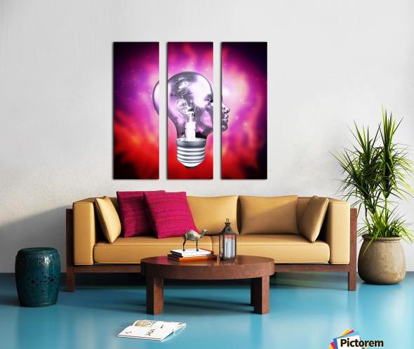 Human Light Bulb Head Split Canvas print