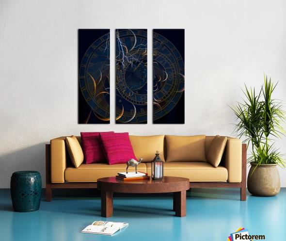 Zodiac Time Split Canvas print