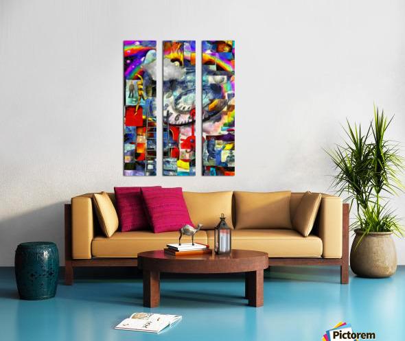 Elements of Human Consciousness Split Canvas print
