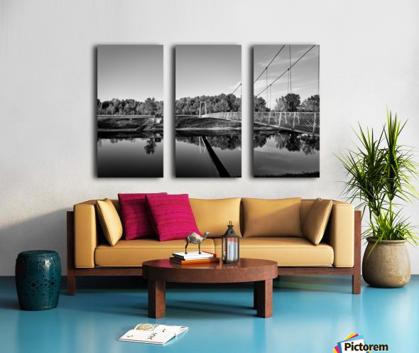 White Bridge Split Canvas print