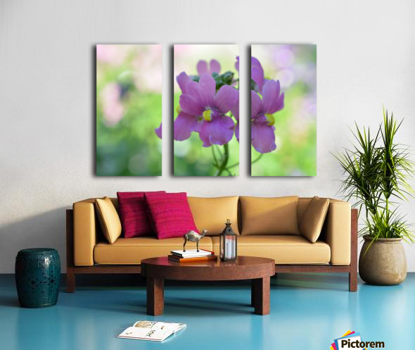 Purple Flowers Photograph Split Canvas print