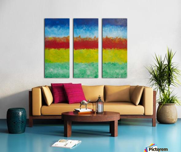 Horizon Split Canvas print