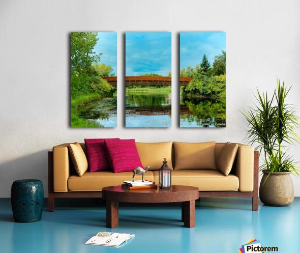 The Lonley Bridge Split Canvas print