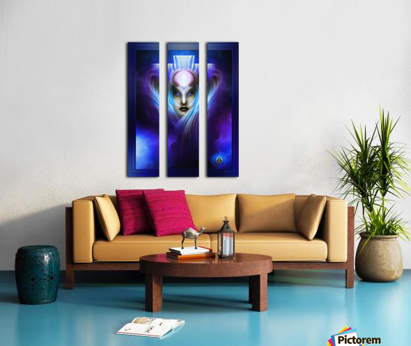 What Dreams Are Made Of Ethereal Clouds Portrait T2 Split Canvas print