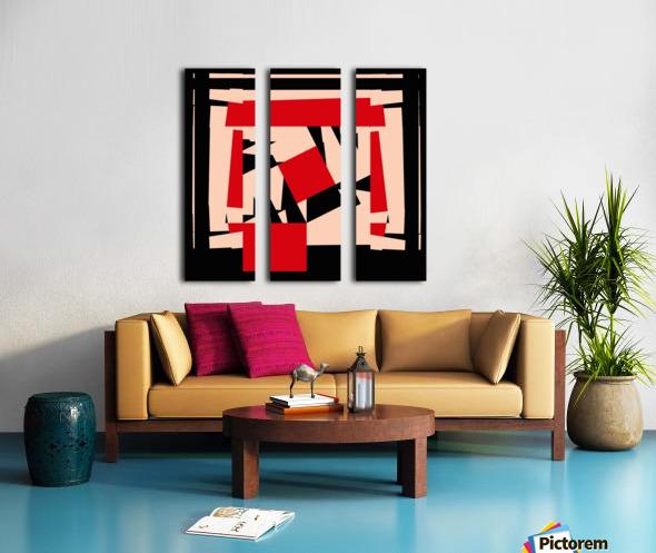 Juggling_Piet_Mondrian Split Canvas print