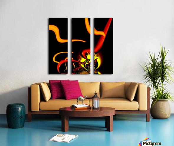 Lightening_Nude Split Canvas print