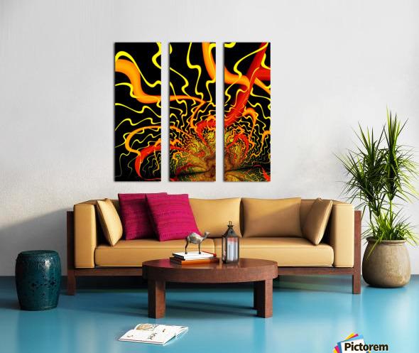 Lightening_Dressed Split Canvas print