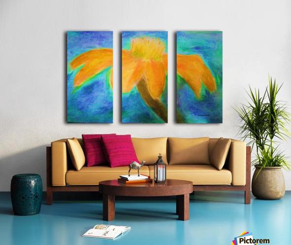 Orange flower Split Canvas print