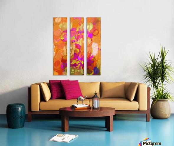 Pink and orange Split Canvas print
