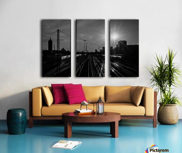 German Rails Split Canvas print