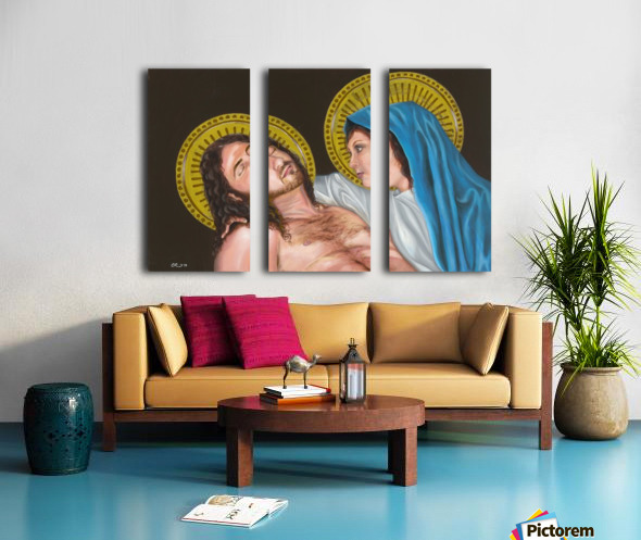 Pieta Split Canvas print