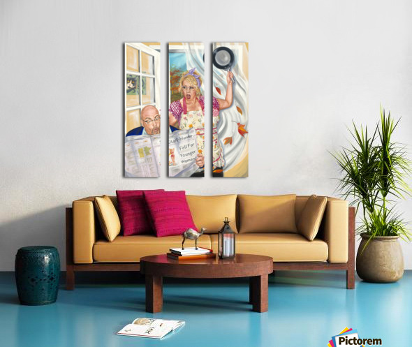 Fall for Younger Women Split Canvas print