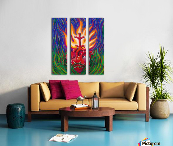 Sacred Heart Split Canvas print