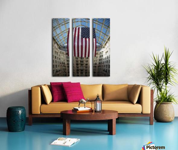 United States Flag Split Canvas print