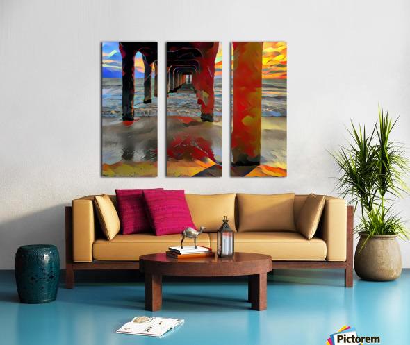 Hermosa beach pier Split Canvas print