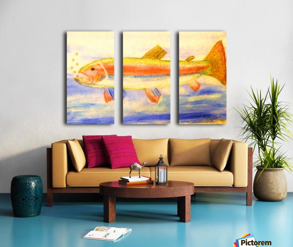 Rainbow Trout Split Canvas print