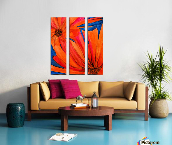 Orange Flowers  Split Canvas print