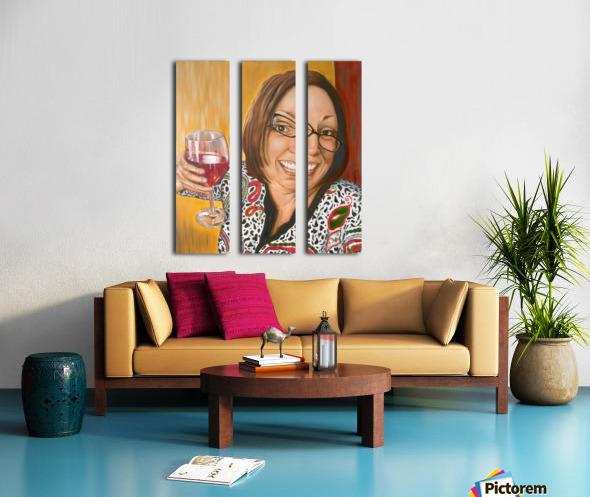 Auntie Bananas Split Canvas print