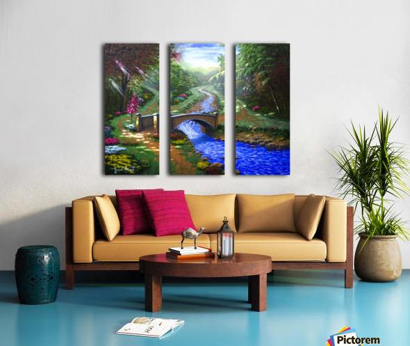 Forest Stream Split Canvas print