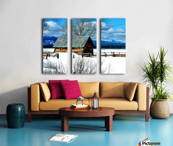 Winter Homestead  Split Canvas print
