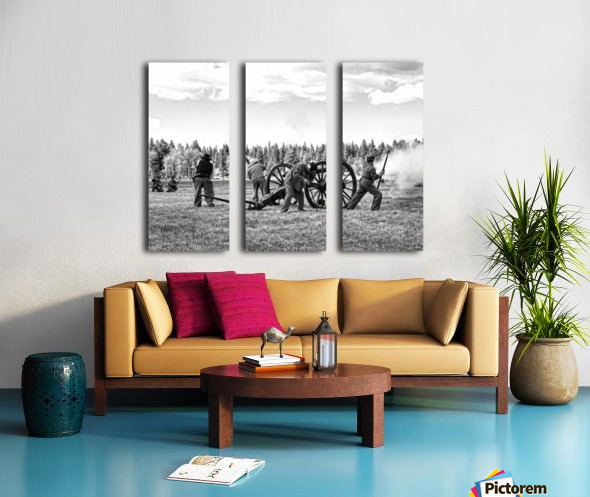 U. S. Civil War Re-enactment Split Canvas print