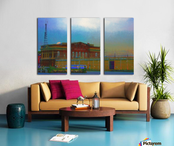 Baltimore Port Maryland  Split Canvas print