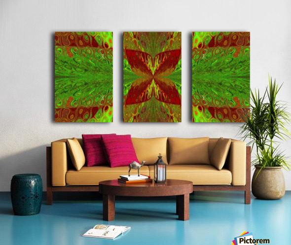 Butterfly in Crystal 5 Split Canvas print