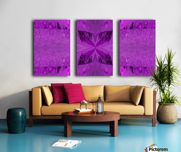 Butterfly in Crystal 19 Split Canvas print