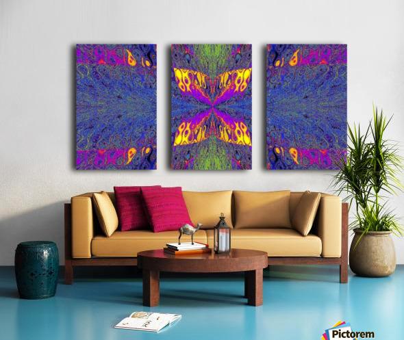 Butterfly in Crystal 23 Split Canvas print