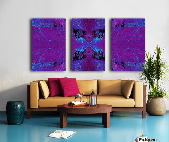 Butterfly in Crystal 29 Split Canvas print