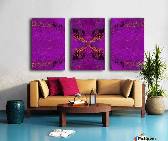 Butterfly in Crystal 37 Split Canvas print