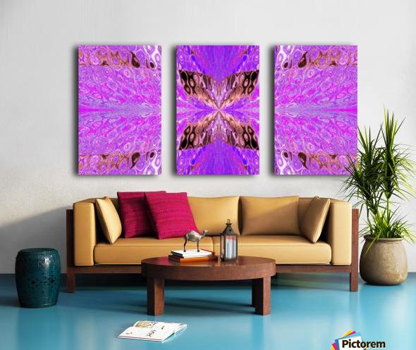 Butterfly in Crystal 49 Split Canvas print