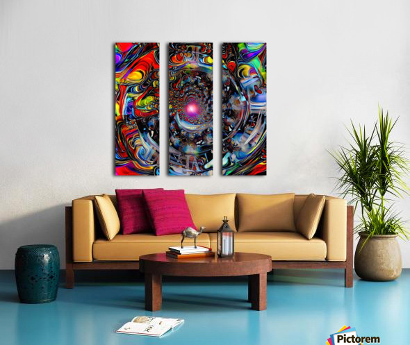 Colors of Time Split Canvas print