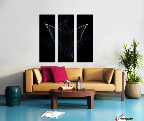 Outline of Winged Creature Split Canvas print