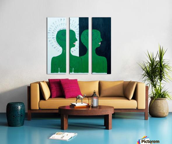 Humans Split Canvas print