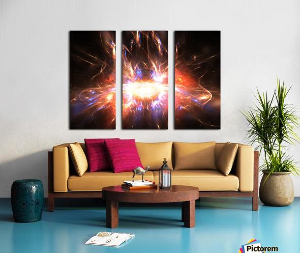 Angry galaxy e Split Canvas print