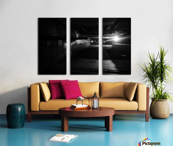 Dark alley Split Canvas print